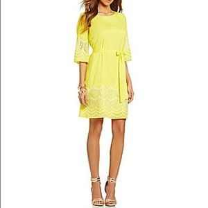 Nwt GIANNI BINI Sierra Sun Yellow Fan Fav Dress
